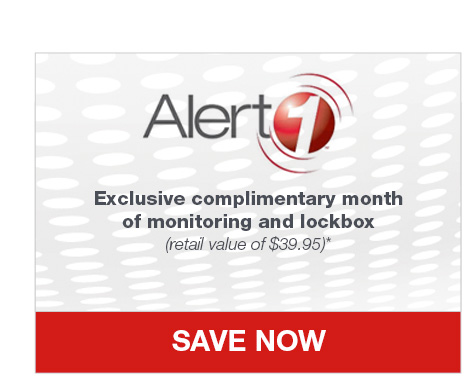 Alert 1. Exclusive complimentary month of monitoring and lockbox (retail value of $39.95)*